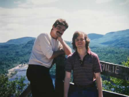 Visiting Laurentian Mountains, Quebec, with Nino Ricci, 1988
