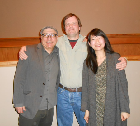 At Colorado College with Rawi Hage and Madeleine Thien, Colorado Springs, 2014.