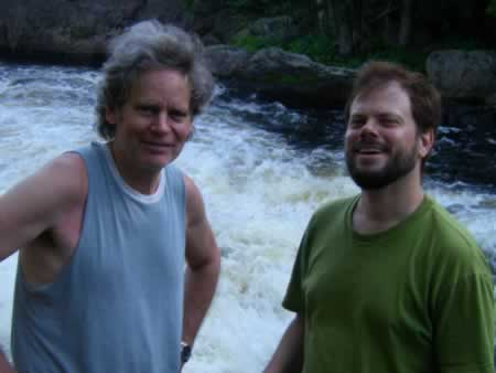 Literary conversation with Jeffrey Moore  near Val-Morin, Quebec, 2009.