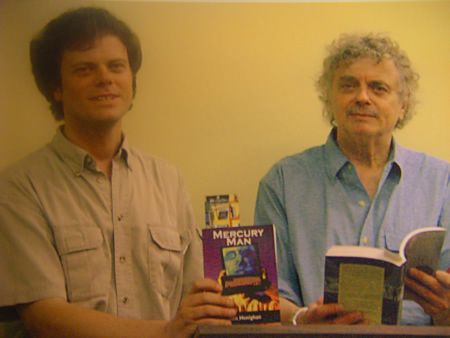 Reading with Tom Henighan at joint launch of The Streets of Winter and Mercury Man Ottawa, 2004
