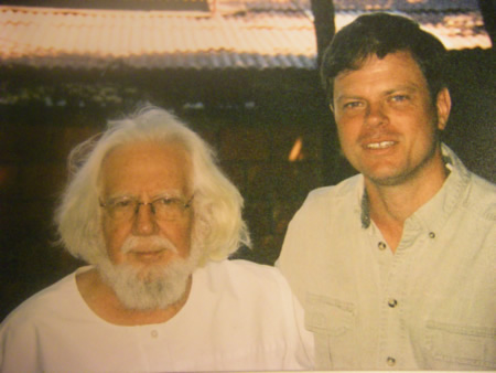 Speaking with Ernesto Cardenal, Managua, 2006.