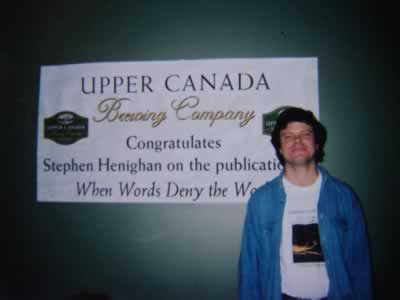 When Words Deny the World launch, The Bookshelf, Guelph, Ontario, 2002.